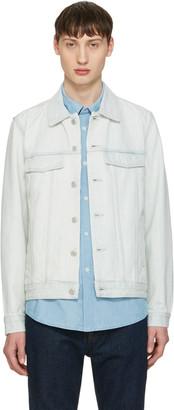 A.P.C. Blue Denim Waren Jacket $320 thestylecure.com