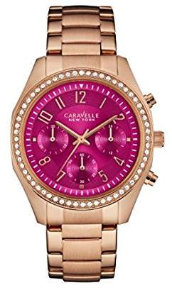 Bulova Women's Quartz Stainless Steel Casual Watch, Color:Rose Gold-Toned (Model: 44L223) $135 thestylecure.com