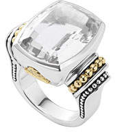 Lagos 20mmm Caviar Color White Topaz Ring, Size 7