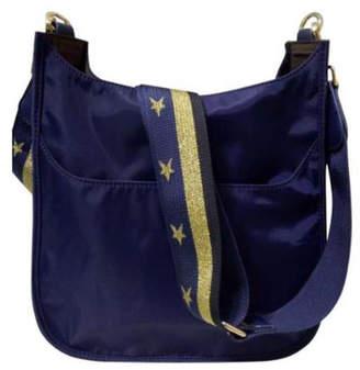 Ah!dorned Solid Nylon Messenger Bag with Canvas Strap
