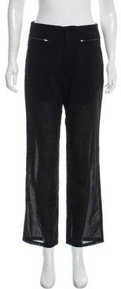 Yohji Yamamoto Sheer Straight-Leg Pants $65 thestylecure.com