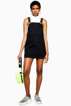 Topshop Bib Pocket Pinafore Dress