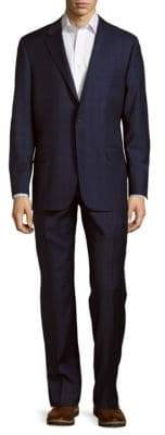 Hickey Freeman Milburn II Series T Classic Fit Plaid Wool Suit