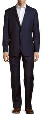 Hickey Freeman Milburn II Series T Classic Fit Plaid Wool Suit