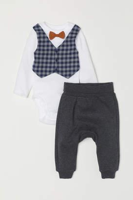 H&M Bodysuit and Pants - Blue
