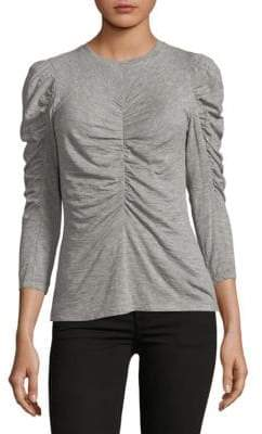 Rebecca Taylor Long Sleeve Ruched Jersey Top