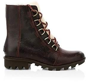 Sorel Women's Phoenix Shearling Leather Waterproof Hiking Boots