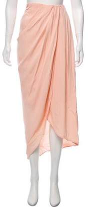 Hatch Pleated Midi Skirt