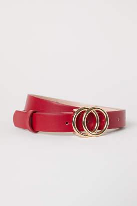 H&M Narrow Belt - Red
