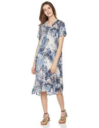 Peace Love Maxi Women's High Slit Boho V-Neck Coconut Palm Print Long Dress
