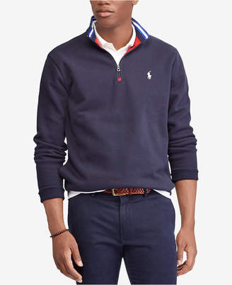 Polo Ralph Lauren Men's Double-Knit Mesh Half-Zip Pullover