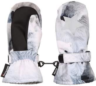 Molo Polar Bears Print Nylon Ski Gloves