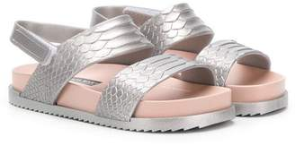 Mini Melissa metallic sandals
