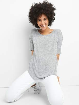 Gap Softspun Elbow-Length Sleeve Round Neck T-Shirt