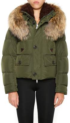 DSQUARED2 Bomber Jacket With Hood