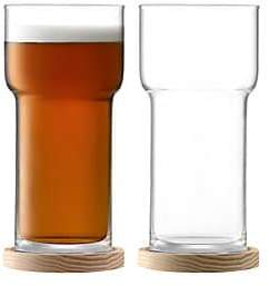 LSA International Two-Piece Utility Beer Glass & Coaster Set