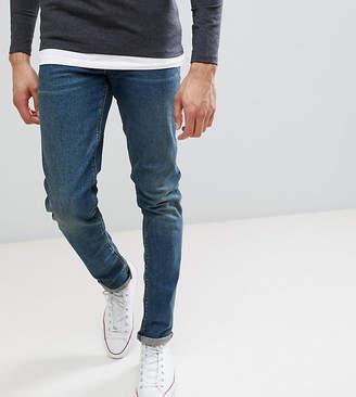 Asos Tall Skinny Jeans In Vintage Dark Wash