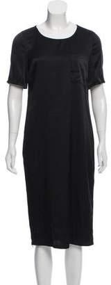 Raquel Allegra Silk Short Sleeve Midi Dress w/ Tags