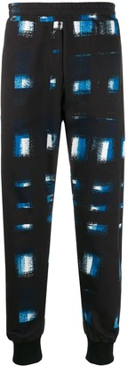 Alexander McQueen printed tapered track trousers