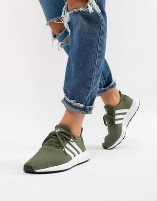 adidas Swift Run Trainers In Khaki