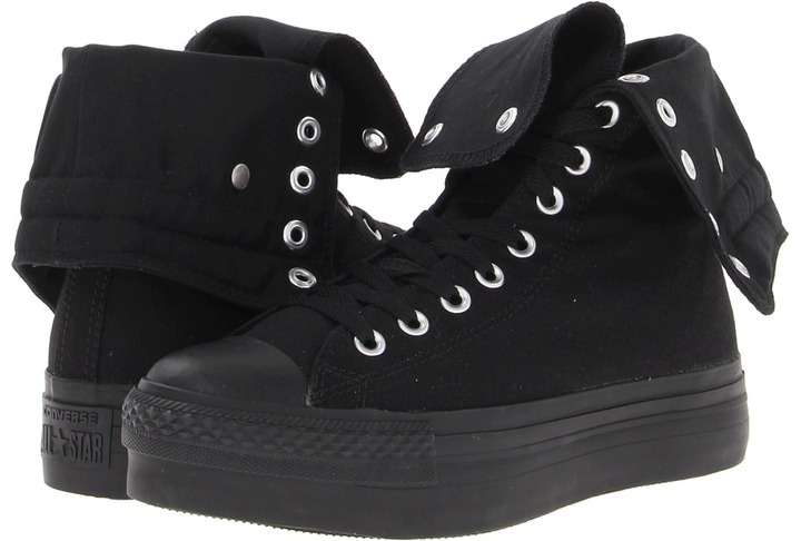 Converse Chuck Taylor All Star Platform X-Hi (Black) - Footwear