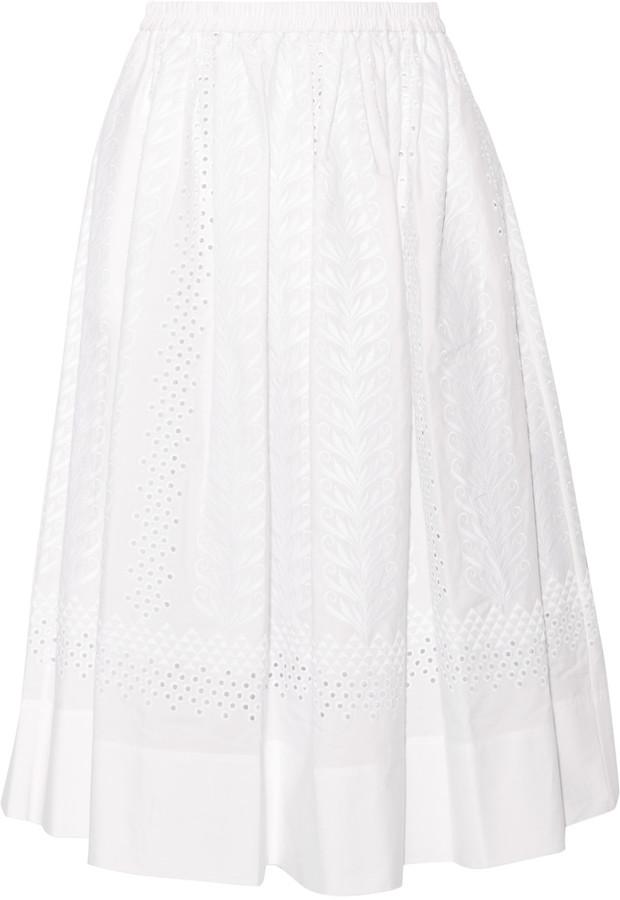 Vanessa BrunoVanessa Bruno Edeia broderie anglaise cotton midi skirt