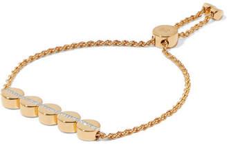 Monica Vinader Linear Bead Gold Vermeil Diamond Bracelet