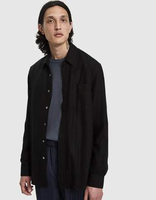 Our Legacy Classic Button Up Shirt in Black Silk