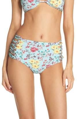 Leith Stripe High Waist Bikini Bottoms
