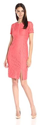 Calvin Klein Women's Floral Lace Short-Sleeve Sheath $114.97 thestylecure.com