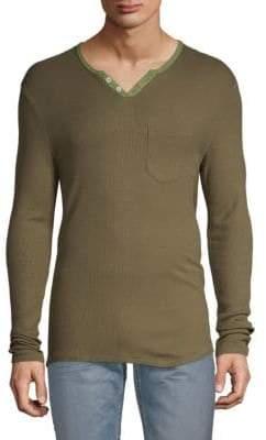 Textured Long-Sleeve Top