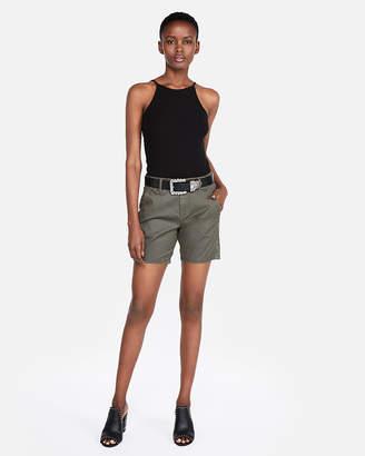 Express Mid Rise Bermuda Trouser Shorts