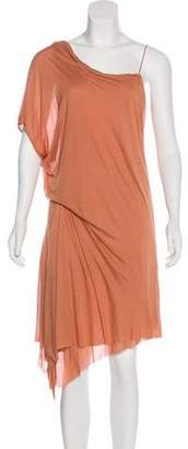 Helmut Lang One-Sleeve Knit Dress