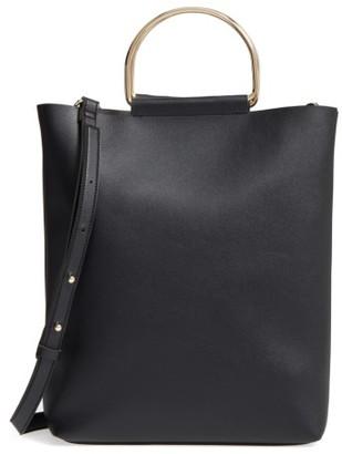 Topshop Faux Leather Tote - Black $45 thestylecure.com