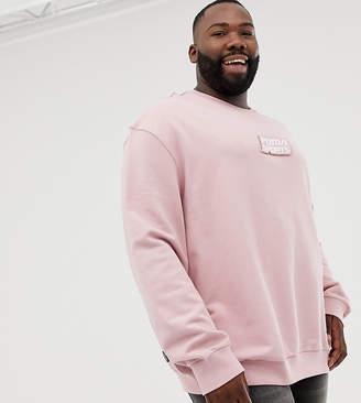 Puma PLUS organic cotton sweat in pink Exclusive at ASOS