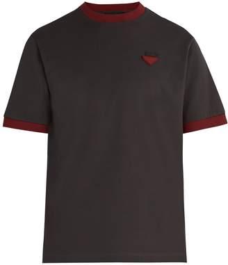 Prada Logo-appliqué cotton piqué T-shirt
