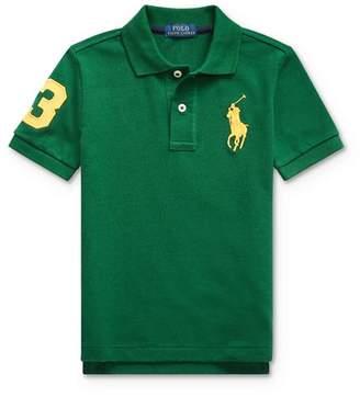 Ralph Lauren Boys' Stretch Cotton Big Pony 3 Polo - Big Kid