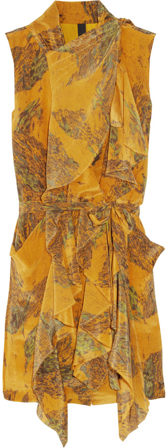 Edun Printed silk dress