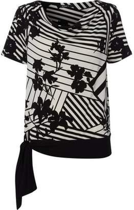 Dorothy Perkins Womens *Roman Originals Monochrome Side Tie Top