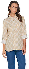 "C. Wonder C. Wonder Bamboo Print Button Front ""Carrie"" Blouse"
