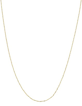 Primavera 24k Gold Over Silver Singapore Chain Necklace