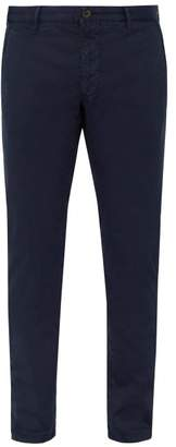 Incotex Slim Leg Cotton Blend Chino Trousers - Mens - Navy