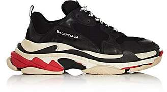 Balenciaga Men's Triple S Platform Sneakers - Black