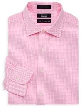 Saks Fifth Avenue BLACK Slim-Fit Gingham Shirt
