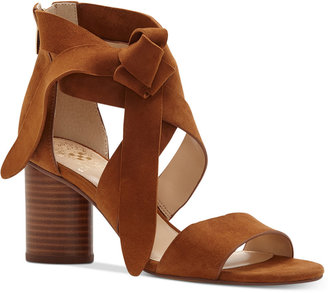 Vince Camuto Jeneve Strappy Block-Heel Sandals Women's Shoes $119 thestylecure.com