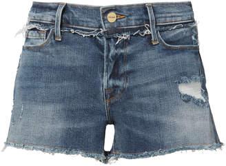 Frame Rookley Frayed Trim Cut Off Shorts