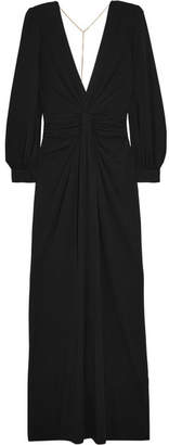 Michael Kors Collection - Chain-embellished Open-back Draped Jersey Gown - Black $2,875 thestylecure.com