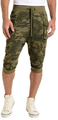 2Xist Camo-Print Cargo Cropped Pants, Olive $64 thestylecure.com