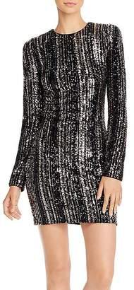 Aqua Capsule Striped Sequined Dress - 100% Exclusive