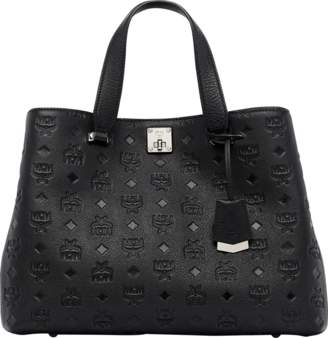 MCM Essential Tote In Monogram Leather